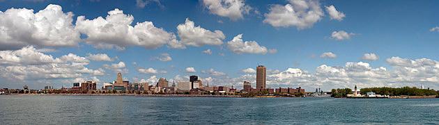 Panoramic Photo of Buffalo, NY and Waterfront