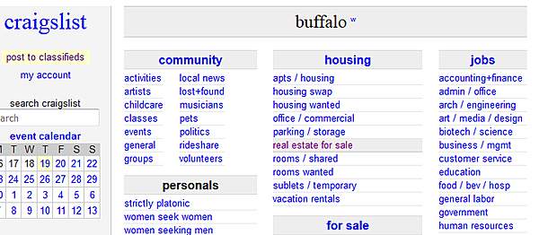 Craigslist dating buffalo ny