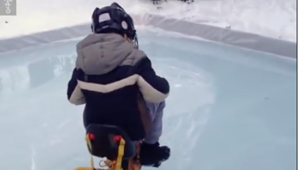 Little Boy Makes Zamboni For His Backyard Ice Rink [VIDEO]