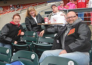 Friends Joy and Michael shared their Bison tickets!