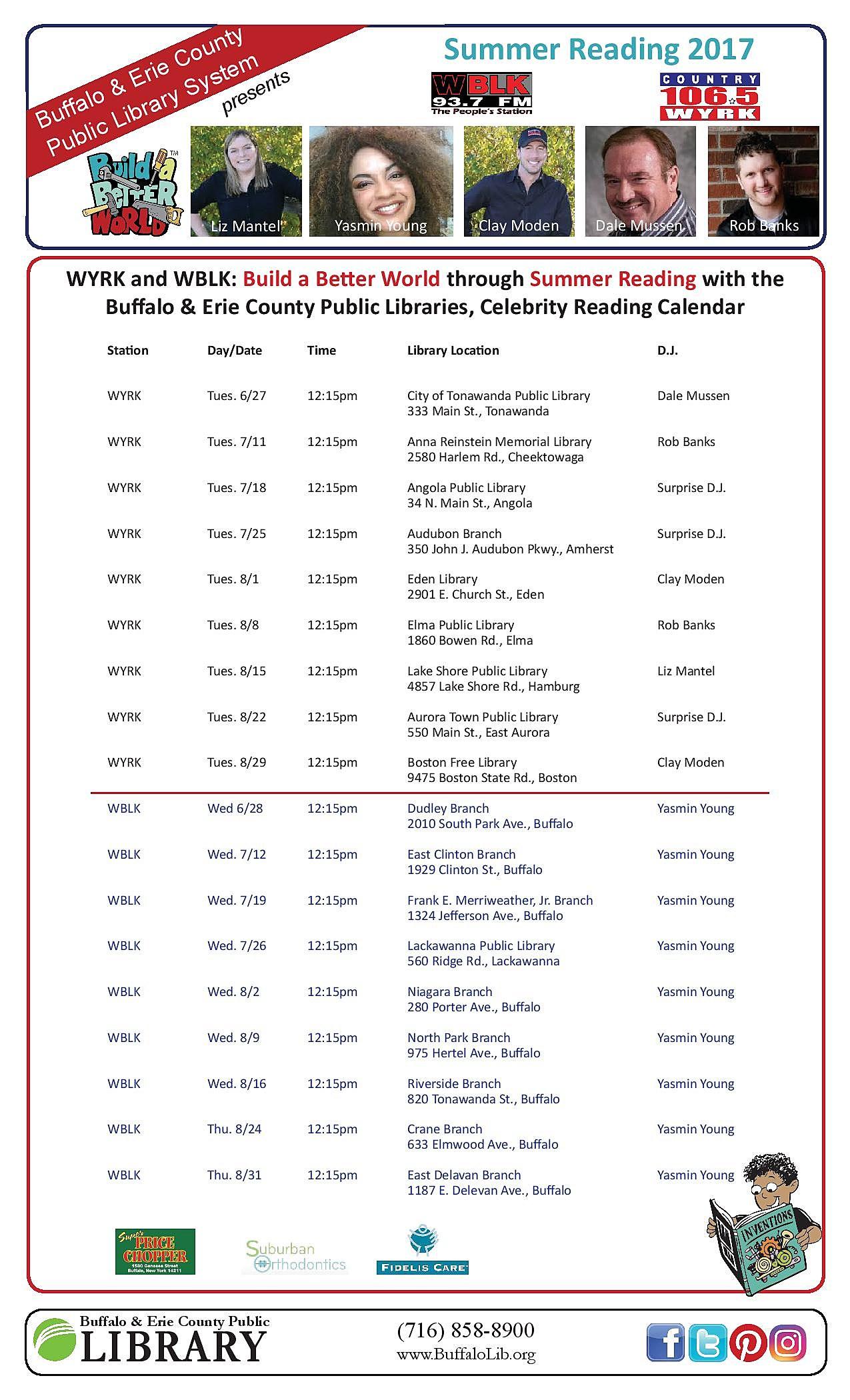 Radio Reader Schedule