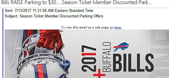 Bills Parking Email