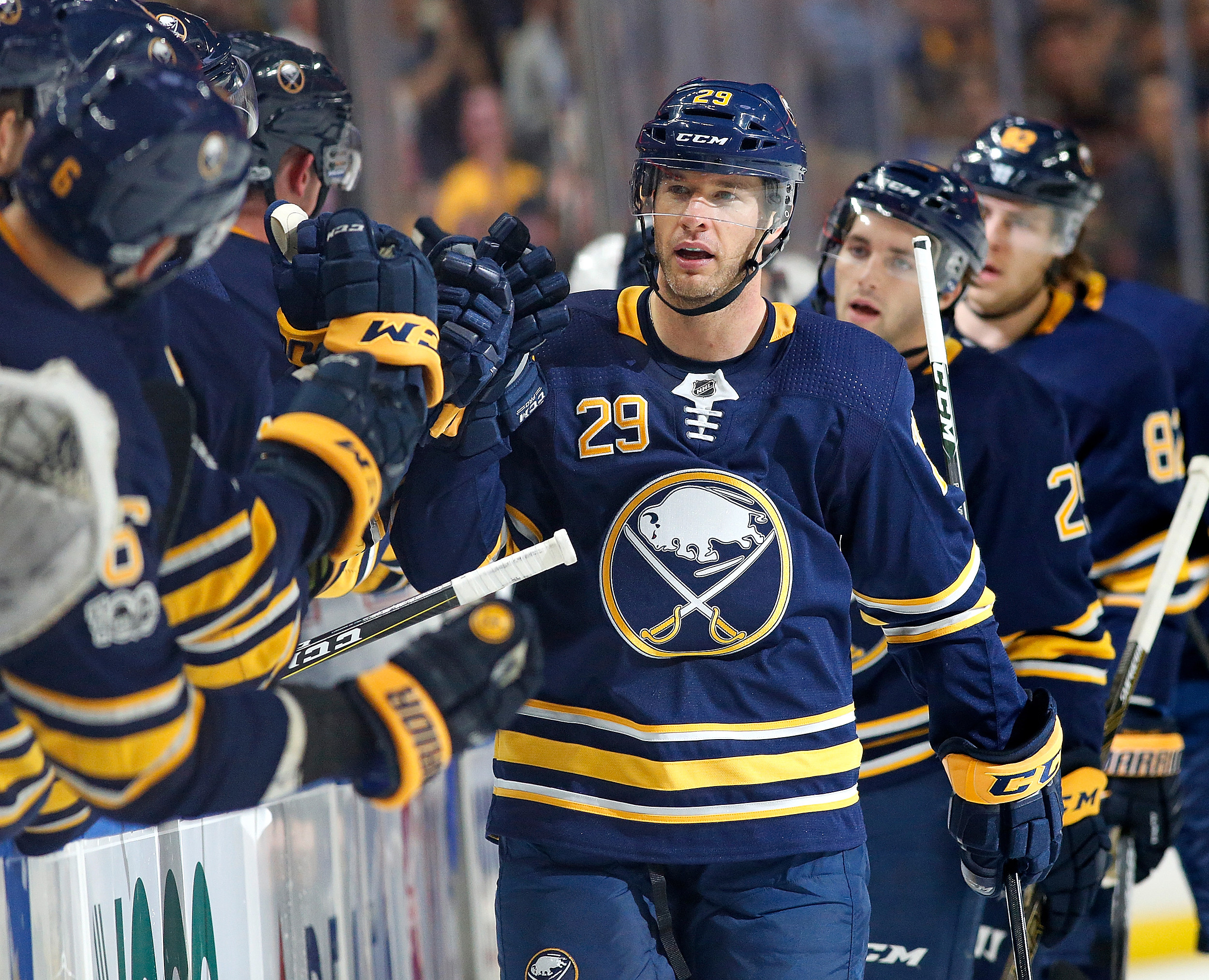Jason Pominville scored both Buffalo goals in a shoot out loss to Montreal  (Getty Images)