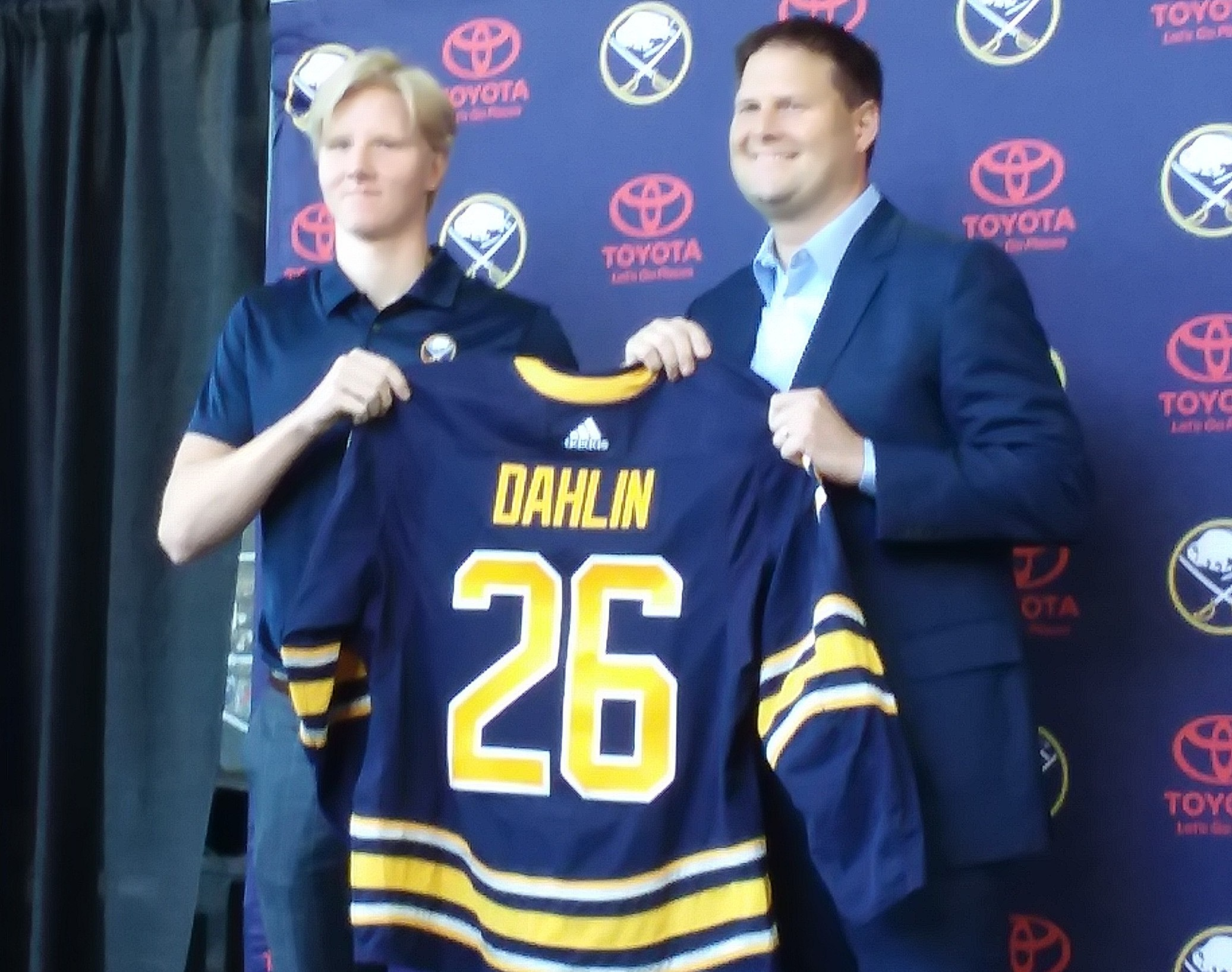 promo code a044e cc42e Buffalo Sabres Introduce Their Number-One Draft Choice